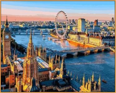 Картины по номерам Лондон Вид на Темзу