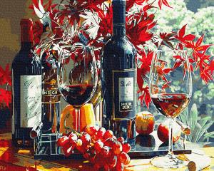 Картины по номерам Багряне вино