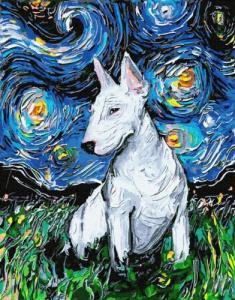 Картины по номерам Доберман в звездную ночь