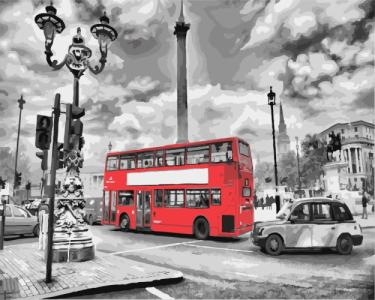 Картины по номерам Лондонский автобус