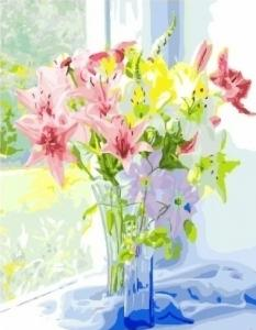 Картины по номерам Весенний букет лилий