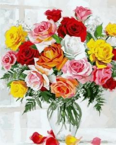 Картины по номерам Красота роз