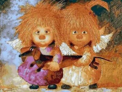 Картины по номерам Солнечные ангелы с таксой