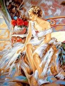 Картины по номерам Грациозная дама