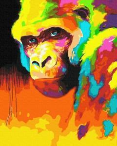 Картины по номерам Орангутанг в красках
