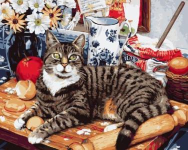 Картины по номерам Кот-кулинар