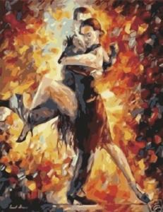 Картины по номерам Страсть в танце. Леонид Афремов