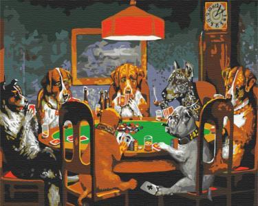 Картины по номерам Покер