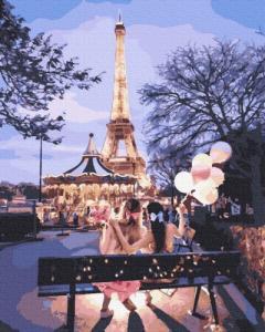 Картины по номерам Подружки в Париже