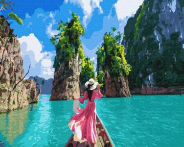 Картины по номерам Прогулка на лодке