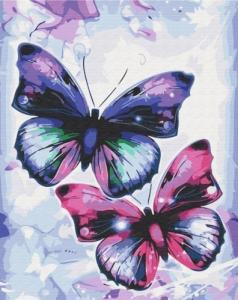 Картины по номерам Блестящие бабочки