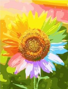 Картины по номерам Радужный подсолнух