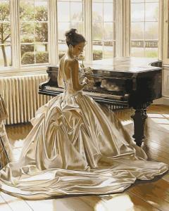 Картины по номерам Девушка у рояля