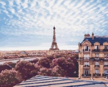 Картины по номерам Небо над Парижем