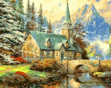 Альпийский пейзаж. Часовня