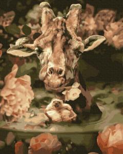 Картины по номерам Жираф и друзья