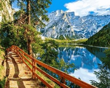 Картины по номерам Озеро Брайес Италия