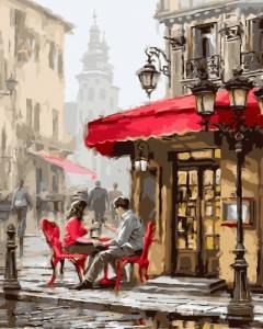 Картины по номерам Лондонское кафе