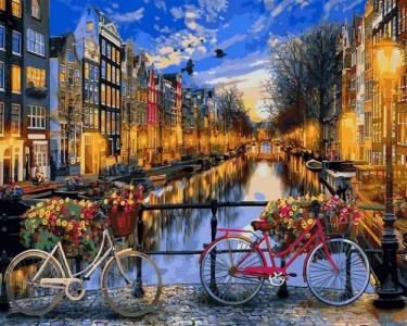 Картины по номерам Вечерний Амстердам
