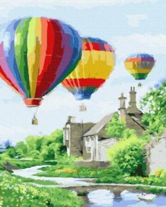 Картины по номерам Запуск воздушных шаров