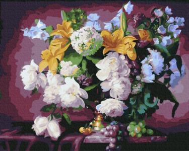Картины по номерам Роскошный цветочный натюрморт