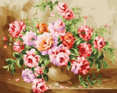 Картины по номерам Пышный букет цветов
