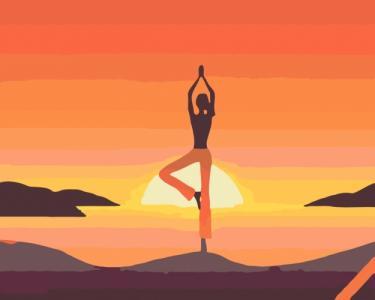 Картины по номерам Асана йоги