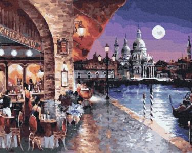 Картины по номерам Вечернее кафе Венеции