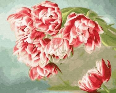 Картины по номерам Розовые тюльпаны