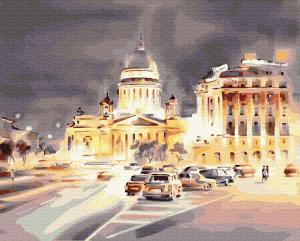 Картины по номерам Світло нічного міста