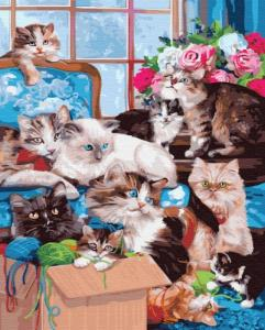 Картины по номерам Кошкин дом