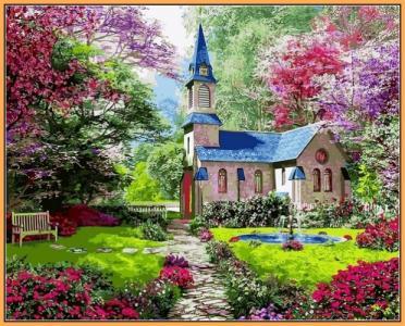 Картины по номерам Цветущий сад