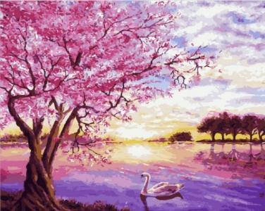 Картины по номерам Закат в розовых тонах