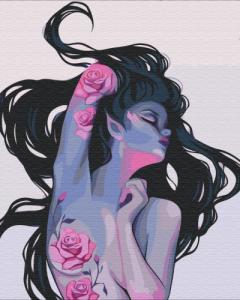 Картины по номерам Татуировки эльфийки
