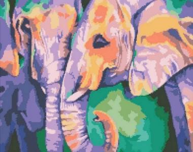 Алмазная мозаика Индийские краски