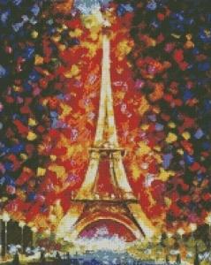 Алмазная мозаика Эйфелева башня в огнях
