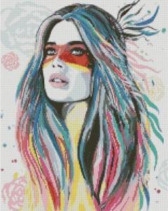 Алмазная мозаика Дочь вождя