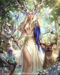 Алмазная мозаика Лесная царица