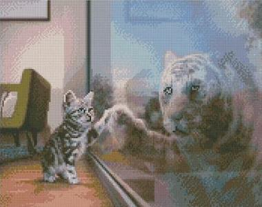 Алмазная мозаика Будущий тигр