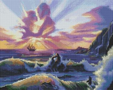 Алмазная мозаика Влюбленные и море
