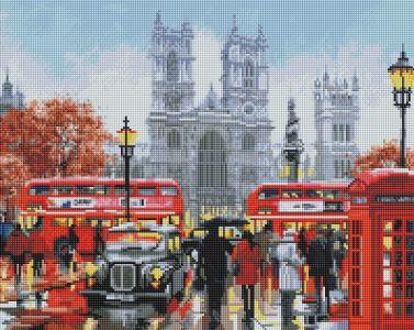 Алмазная мозаика Дождливый Лондон