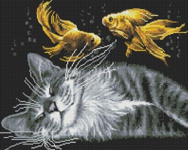 Алмазная мозаика Мечты кота