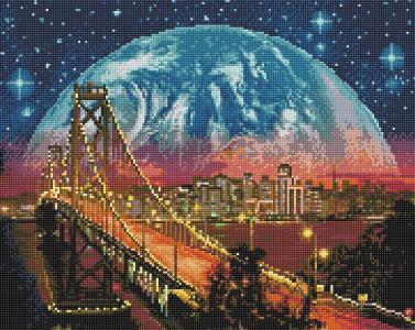 Алмазная мозаика Манхэттенский мост