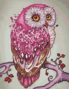 Алмазная мозаика Розовая сова