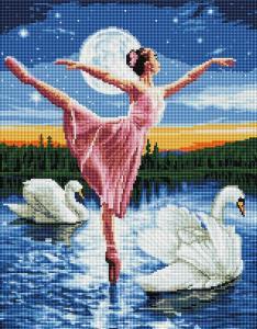 Алмазная мозаика Лебединое озеро