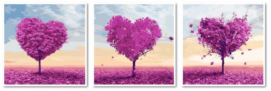 Модульные картины Деревья любви