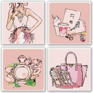 Модульные картины Розовые мечты