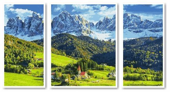 Модульные картины Триптих Альпы