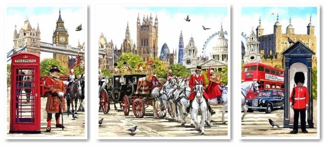 Модульные картины Триптих Очарование Англии