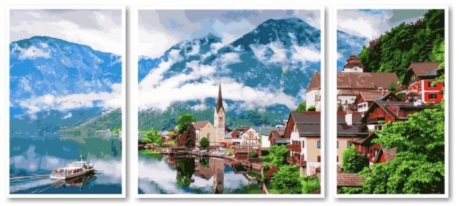 Модульные картины Триптих Летняя Австрия
